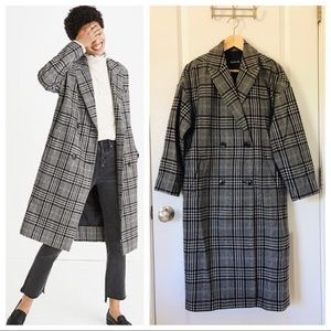 $325 MADEWELL Grey Speckled Tweed Coat XS Shopbop